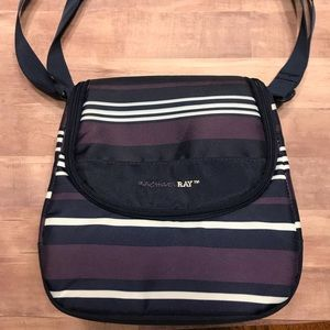 Lunch bag insulated Rachael Ray purple stripes